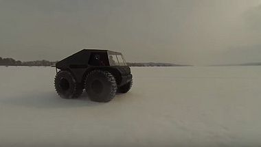 ATV, snow and swamp-going vehicle BigBo | Winter tests
